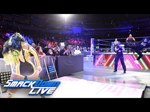 Naomi helps Jimmy Uso defeat Rowan SmackDown LIVE April 24 2018