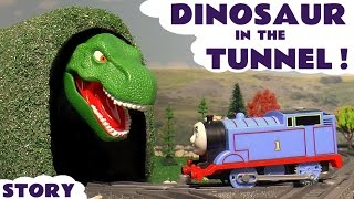 Thomas and Friends Toy Trains Dinosaur Prank with Spiderman - Train Toys for kids and children TT4U