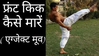How to do Front Kick perfectly...In Hindi