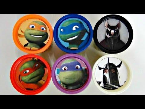Teenage Mutant Ninja Turtles TMNT Playdoh Surprise with Toy Sets, Leo, Mikey / TUYC