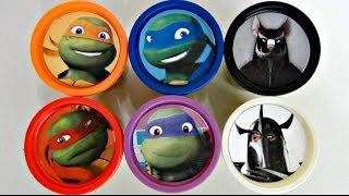 Teenage Mutant Ninja Turtles TMNT Playdoh Surprise with Toy Sets, Leo, Mikey / TUYC