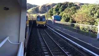 Wellington City EMU Train Passing though