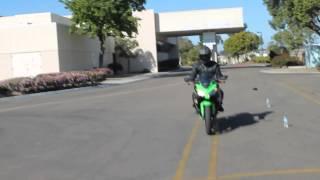 Ca DMV Motorcycle skills test in a Ninja 300