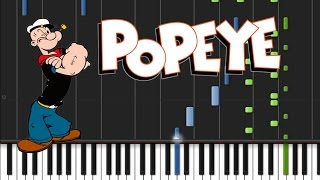Popeye the Sailor Man - Theme Song [Synthesia Tutorial]