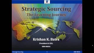 Webinar on Strategic Sourcing