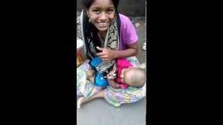 Muslim beggar 4 month old