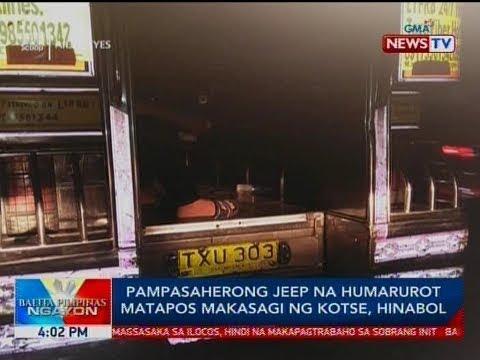Xxx Mp4 BP Pampasaherong Jeep Na Humarurot Matapos Makasagi Ng Kotse Hinabol 3gp Sex