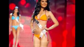 foto seksi maria selena pakai bikini mantan miss indonesia