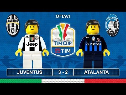 Juventus Atalanta 3-2 • Tim Cup 2017 (11/01/2017) goal sintesi Lego Calcio Coppa Italia 2017