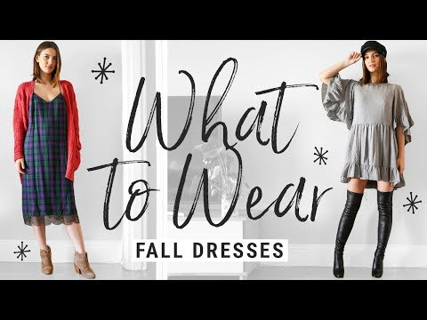 how to style FALL DRESSES!!  WHAT TO WEAR with dresses this fall/winter!