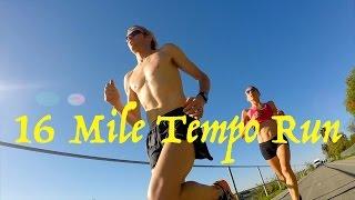 Ryan and Sara Hall: 16 Mile Tempo Run