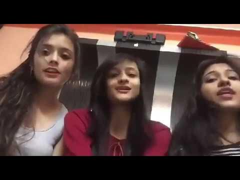 ek murgi thi ...uske do bachhe the...| funny video by girls