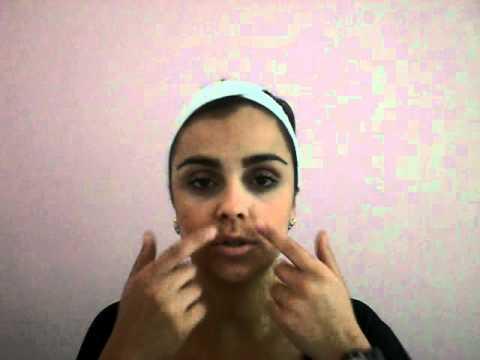 Clínica Iara Paes exercícios e auto massagem facial.