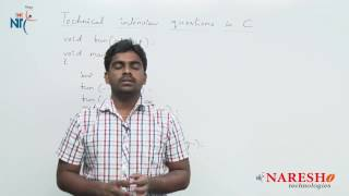 Functions | C Technical Interview Questions and Answers | Mr. Srinivas