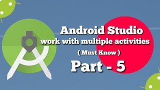 Android Studio Part - 5 🔥 How to Use Multiple Activities 🔥 Multiple buttons in a single activity🔥