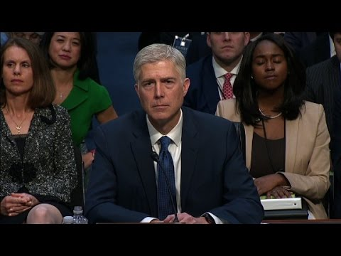 Gorsuch s entire opening statement at hearing