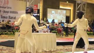 Pertarungan Terbaik Anggar Indonesia di PON 2016