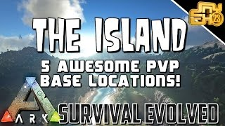 ARK - 5 AWESOME PVP STARTER BASE LOCATIONS AND SUGGESTED BASE BUILD!!