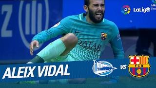 Lesión de Aleix VIdal en el Deportivo Alavés vs FC Barcelona (0-6)