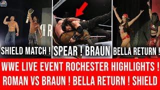 Roman Spear Braun Strowman ! WWE Live Event Rochester Highlights ! Bella Twins Return ! Shield Match