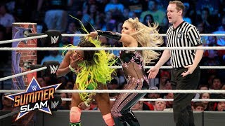 Natalya mounts a creative offense in her attempt to dethrone Naomi: SummerSlam 2017 (WWE Network)