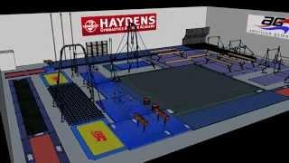 American Gymnast 3D Gym Design - Hayden's Gymnastics Academy