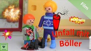 Playmobil Film BÖLLER IN DER HAND EXPLODIERT UNFALL 🎇 Playmobil Geschichten mit Familie Miller