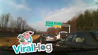 Spin-out on the Highway  || ViralHog