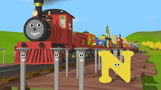 Learn about the Letter N and Count to Nine - The Alphabet Adventure With Alice And Shawn The Train