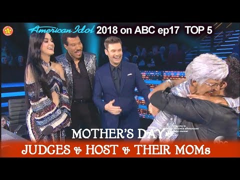 Mother's Day Katy Perry Luke Bryan Lionel & Ryan MOMs -  FULL SEGMENT  American Idol 2018 Top 5