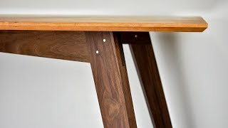 How to Make a Simple Modern Dining Table // With Plans