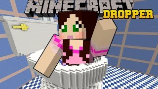 Minecraft: DROPPING INTO A TOILET! - TALLCRAFT DROPPER - Custom Map [2]