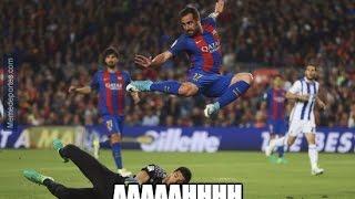 MEMES Barcelona Vs Real Sociedad 3-2 - 15/04/2017 #LALIGA