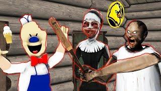 Evil Nun vs Ice Scream rod vs Granny vs Michael Myers funny animation part  2