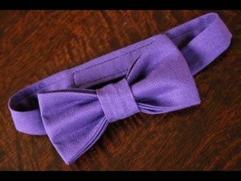 Как сделать самому галстук-бабочку