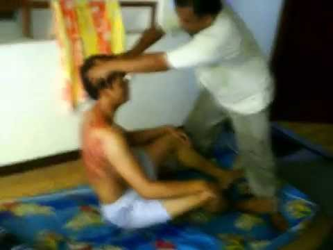 pijatan gila n kerokan sampai gosong Traditional therapy of Indonesia