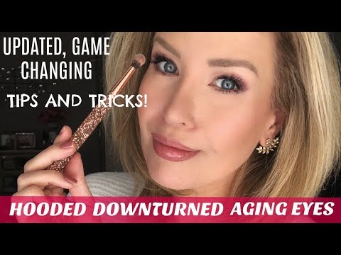 HOODED DOWNTURNED OR AGING EYES NEW TECHNIQUE MOST YOUTUBERS DON T SHOW