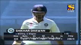 India inning fall of wickets 2nd Innings - India vs New Zealand 2014 1st Test Day 4 Highlights