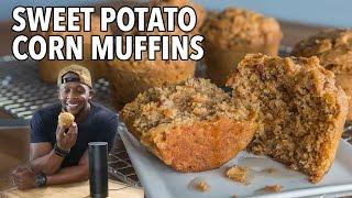 Part 1 of 2: Sweet Potato & Bacon Corn Muffins  / Muffins de Batata y Maiz con Tocino