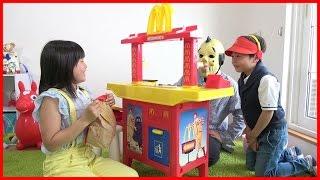 マクドナルド 新人がやってきた! リラックマのおもちゃ お店屋さんごっこ こうくんねみちゃん MacDonald toy