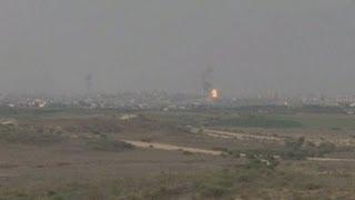 Israeli Forces Strike Gaza (raw footage)