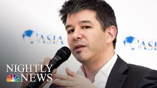 Uber's CEO Travis Kalanick Steps Down Amid Shareholder Pressure After Scandals   NBC Nightly News