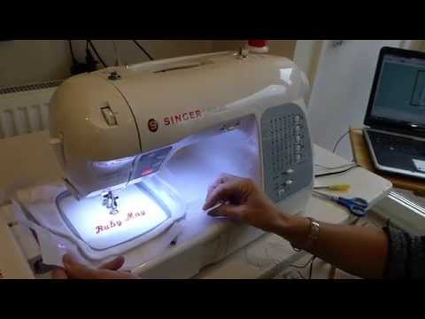 Embroidery using the Singer XL-400 sewing machine