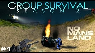 NO MAN'S LAND - Space Engineers 'Group Survival' Story (S2E1)