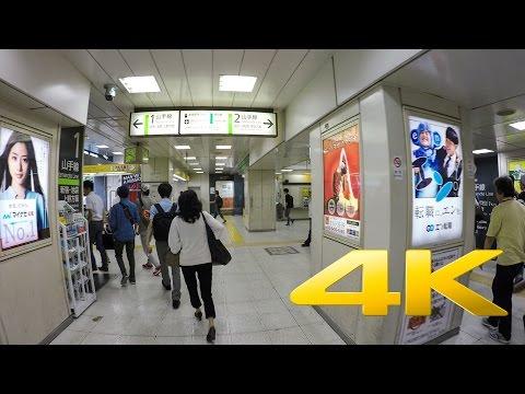 Walking around Shibuya underground station 渋谷駅 4K Ultra HD