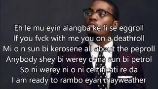 Eyan Mayweather by @Olamide_ybnl [Lyrics Video] - Naijamusiclyrics