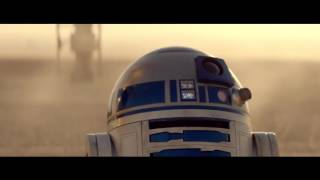 Star Wars The Force Awakens C-3PO & R2-D2 meet BB-8 | official O2 Priority contest