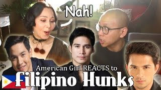 American Girl Reacts to Filipino Hunks | Megan Bowen ChoNunMigookSaram X Mikey Bustos