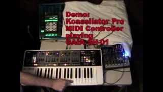 Tutorial Kaossilator Pro as MIDI Controller playing Gaia SH-01