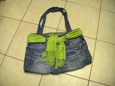 Ideas para reciclar pantalones Bolso